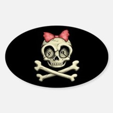 Betty Bones Sticker (Oval)