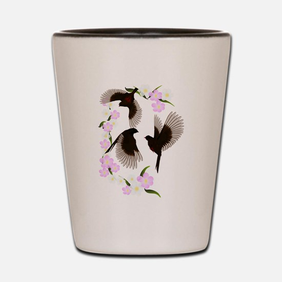 Three Sparrows Trans Shot Glass