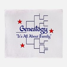 Family Tree Chart Throw Blanket