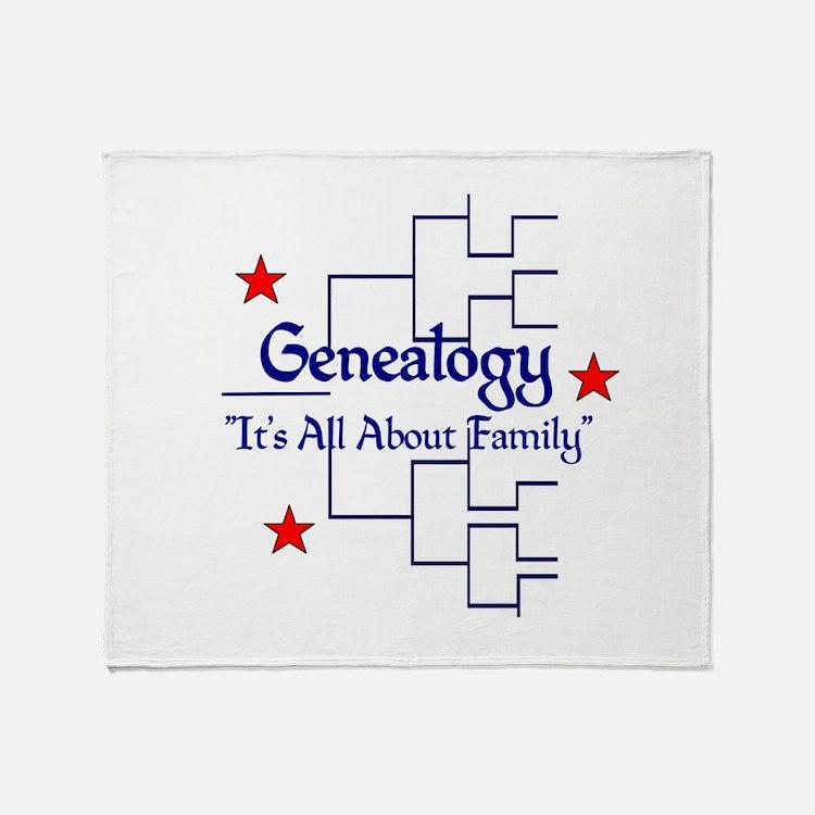Family Tree Chart Throw Blanket