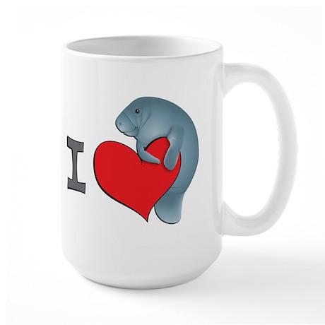 I heart manatees Large Mug