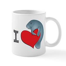 I heart manatees Small Mug