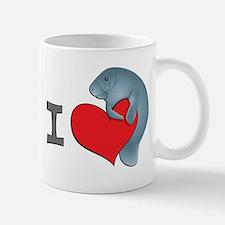 I heart manatees Small Mugs