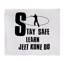 Stay safe learn Jeet Kune Do Throw Blanket