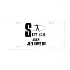 Stay safe learn Jeet Kune Do Aluminum License Plat