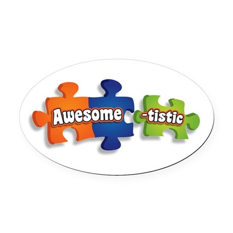 Awesome-tistic Oval Car Magnet