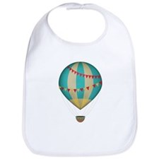 Hot air balloon blue Bib