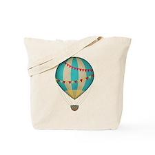 Hot air balloon blue Tote Bag