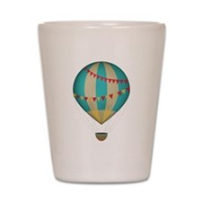 Hot air balloon blue Shot Glass
