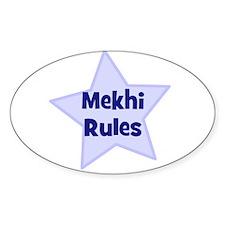 Mekhi Rules Oval Decal