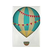 Hot air balloon blue Rectangle Magnet