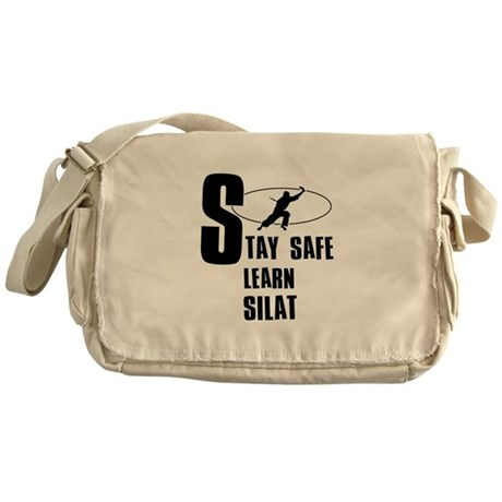 Stay safe learn Silat Messenger Bag