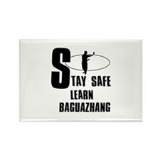 Stay safe learn Baguazhang Rectangle Magnet