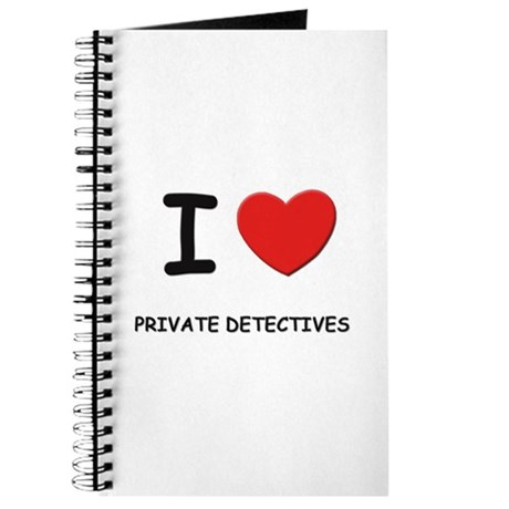 I love private detectives Journal