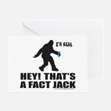 BIGFOOT HEY! THAT'S A FACT JACK Greeting Card
