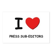 I love press sub-editors Postcards (Package of 8)