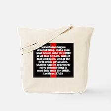 Leviticus 27:28 Tote Bag
