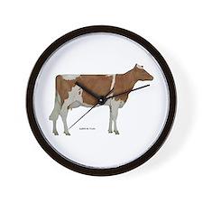 Guernsey Milk Cow Wall Clock