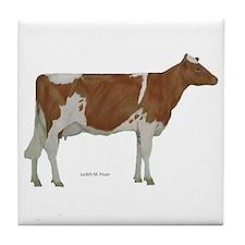 Guernsey Milk Cow Tile Coaster