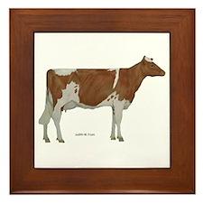 Guernsey Milk Cow Framed Tile