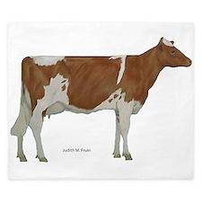 Guernsey Milk Cow King Duvet