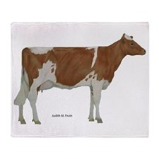 Guernsey Milk Cow Throw Blanket