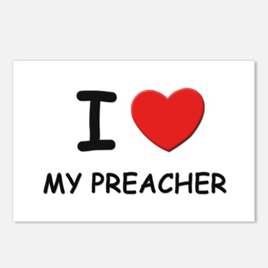 I love preachers Postcards (Package of 8)