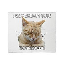 Zen Cat - I Was Grumpy Once It Was Awful Throw Bla