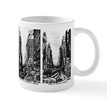 Nuclear war damage mug