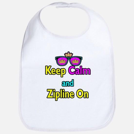 Crown Sunglasses Keep Calm And Zipline On Bib