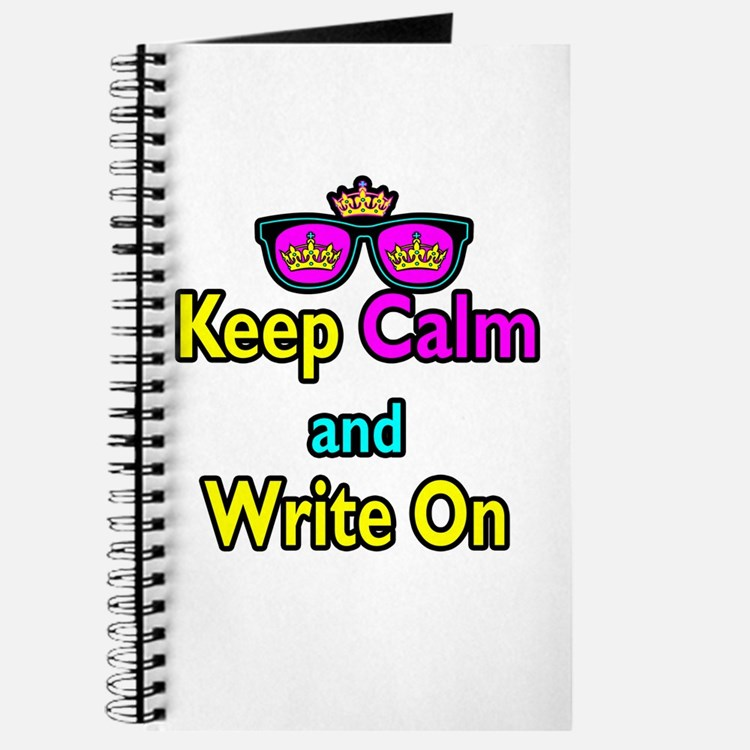Crown Sunglasses Keep Calm And Write On Journal