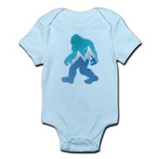 Yeti Mountain Scene Body Suit