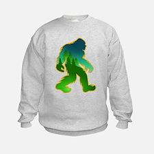 Sasquatch Forest Scene Sweatshirt