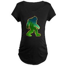 Sasquatch Forest Scene Maternity T-Shirt