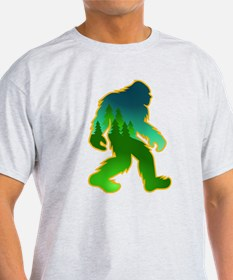 Sasquatch Forest Scene T-Shirt
