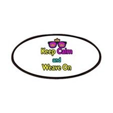 Crown Sunglasses Keep Calm And Weave On Patches