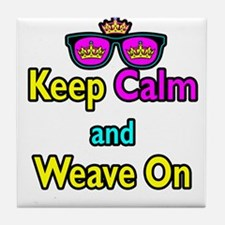Crown Sunglasses Keep Calm And Weave On Tile Coast