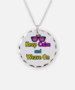 Crown Sunglasses Keep Calm And Weave On Necklace
