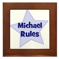 Michael Rules Framed Tile