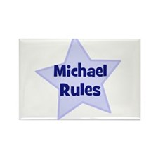 Michael Rules Rectangle Magnet (10 pack)