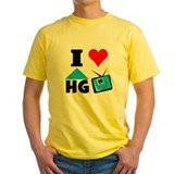 Hgtv Mens Yellow T-shirts