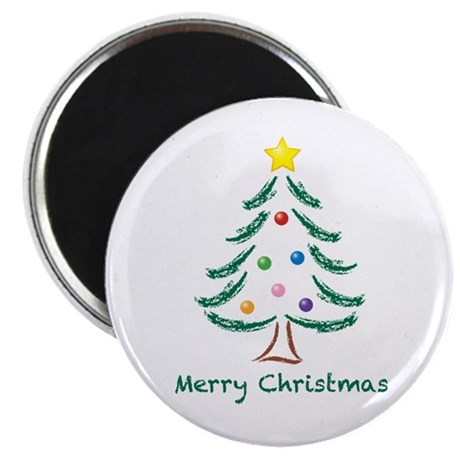 """Merry Christmas Tree 2.25"""" Magnet (10 pack)"""