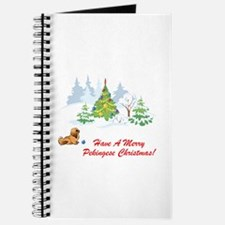 Merry Pekingese Christmas Journal