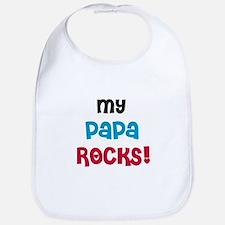 My Papa Rocks Bib