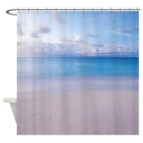 sandy beach shower curtain by walela