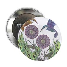 "Graceful Humming Birds 2.25"" Button"