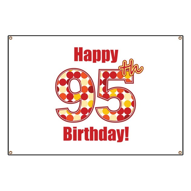 Happy 95th Birthday Banner By Mightybaby