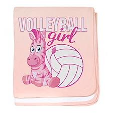Volleyball Girl Baby Blanket