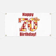 Happy 70th Birthday! Banner