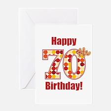 Happy 70th Birthday! Greeting Card